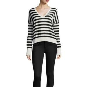 Rag & Bone Bevan Striped Merino Wool Sweater